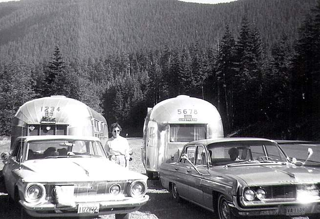 This is original photography of Airstream 1234  touring the USA  in the fifties.