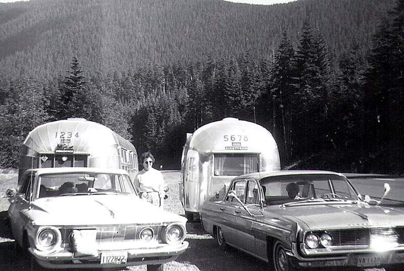This is original photography of Airstream 1234 touring the USA in the 50s.