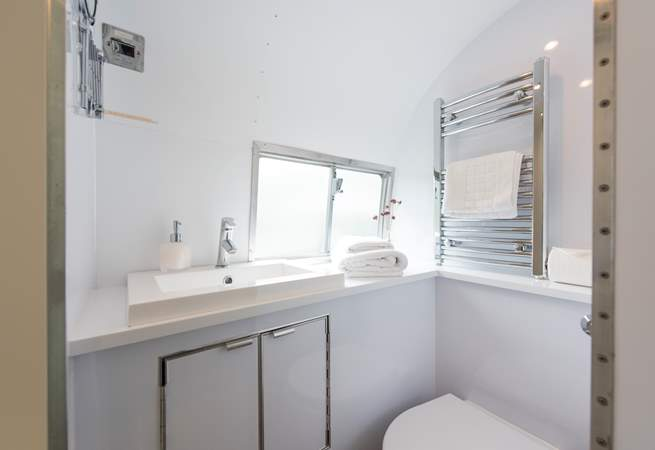 The compact but efficient en suite shower-room.