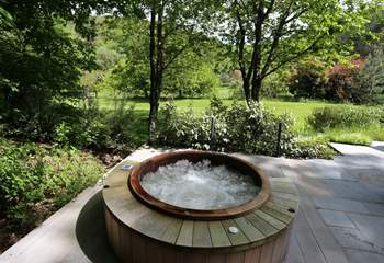 Sheltered and private, a great way to start of end the day in the hot tub!