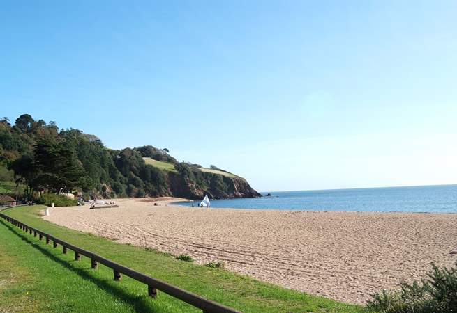 The fabulous beach at Blackpool Sands just a 15 minute drive away.