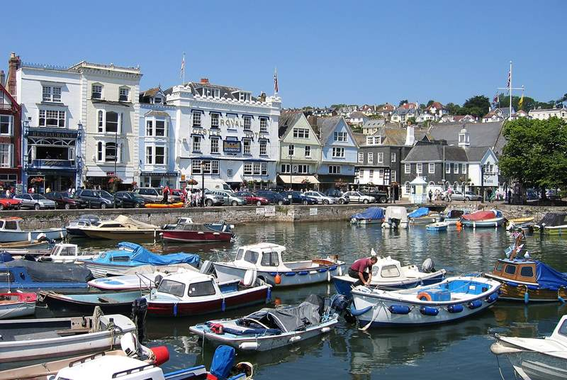 The inner harbour in Dartmouth, just a short drive away and well worth a visit.