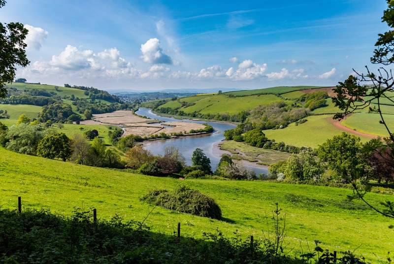 The River Dart looking towards nearby Totnes, another great day out.