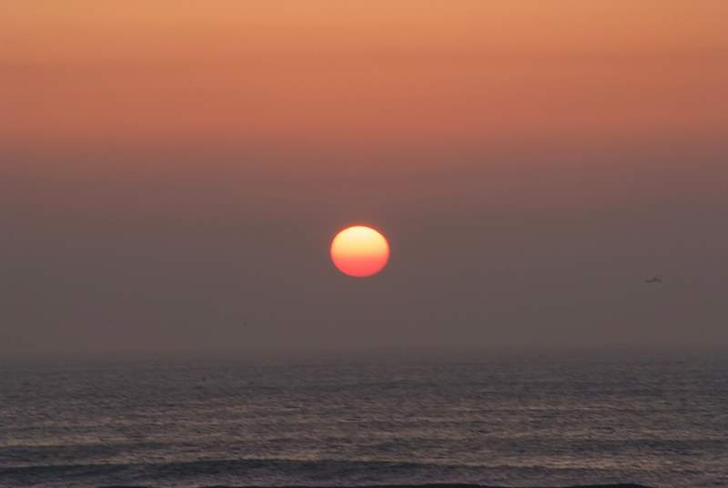 The north coast of Cornwall is famous for its spectacular sunsets.