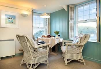 The pretty dining-area...