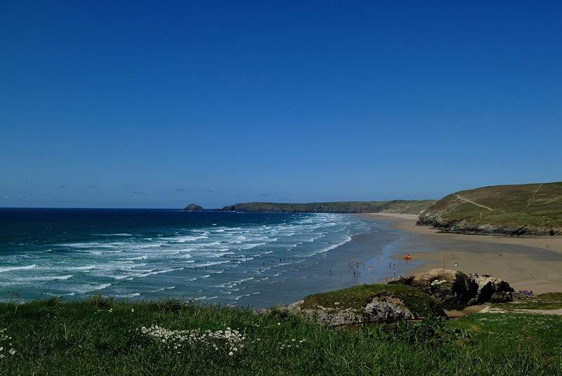 Perranporth beach.