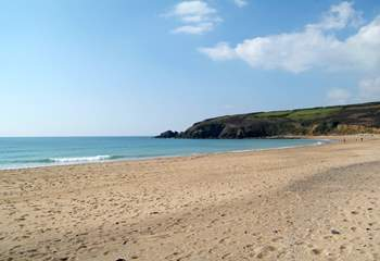 A little further up the coast is the long sandy beach at Praa Sands, dog friendly out-of-season, and easy access to the coast paths.