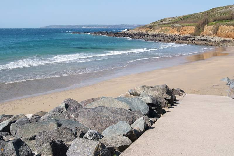 Perranuthnoe is a gorgeous beach which is perfect for children to enjoy rock pooling or surfing.