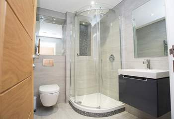 The en suite shower-room to the master bedroom.