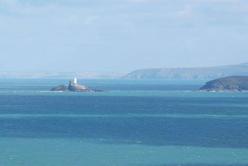 The view to Godrevy Lighthouse from Morwenstow.
