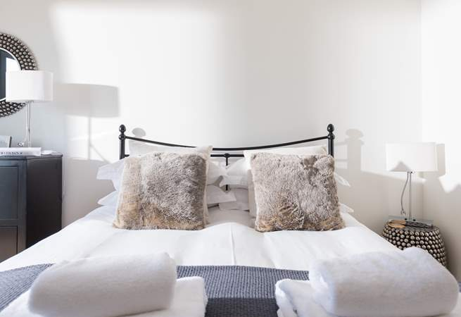 The bedrooms are beautifully styled.