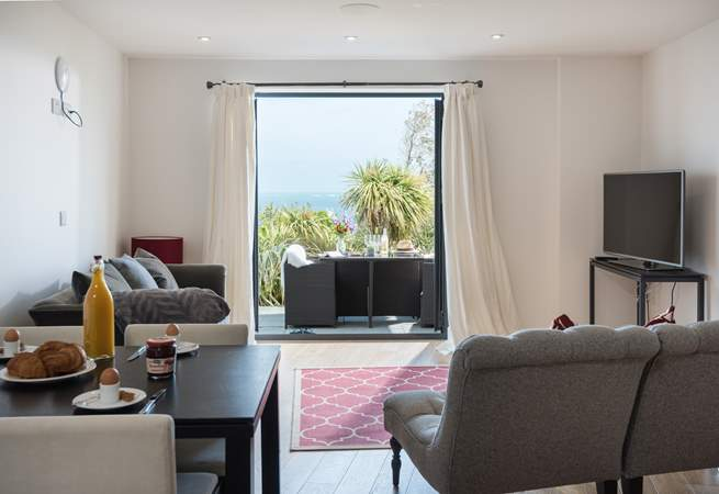 The lovely open plan living-area.