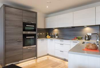 The fabulous kitchen is fully equipped with everything you require.