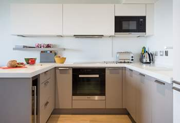 The spacious kitchen - plenty of space to cook up a storm.