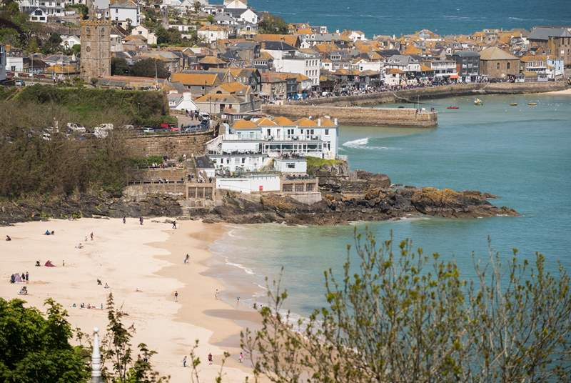 St Ives is a short stroll away.