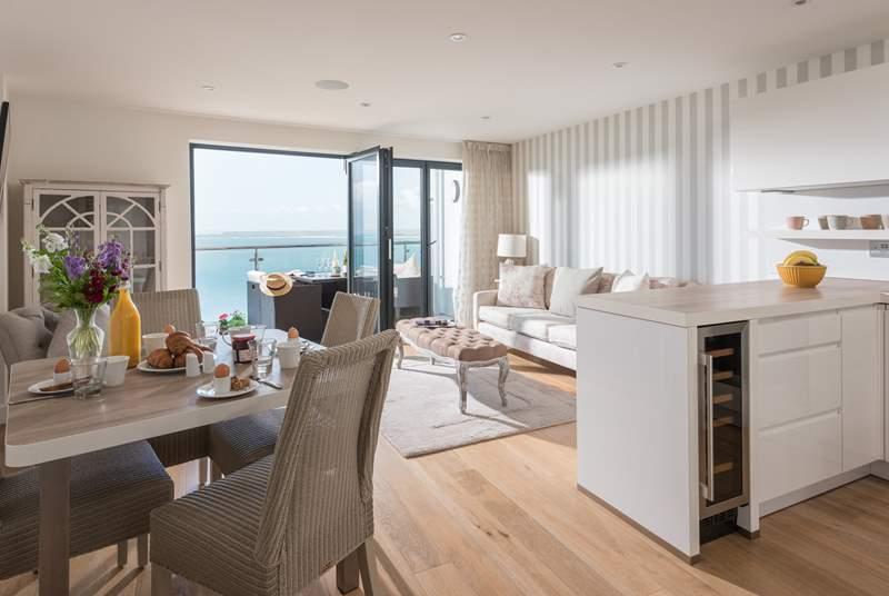 The fabulous open plan living-area.
