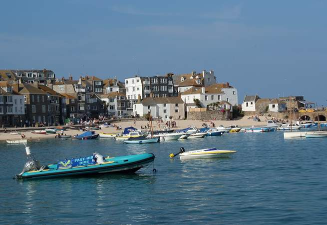St Ives bustles in the summer.