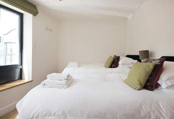 Bedroom 2 has twin beds.