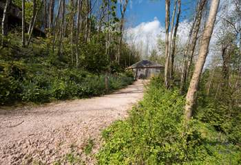 Follow the path to the ultimate in luxury glamping experience . . .