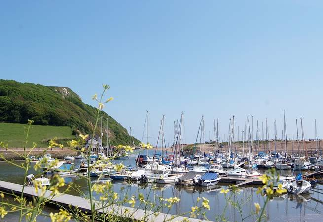 This is the little harbour at Axmouth.