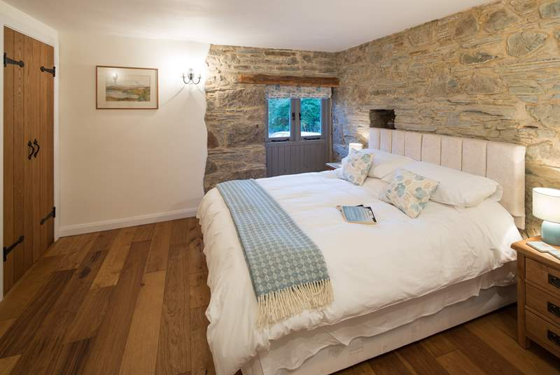 The barn has two beautifully furnished bedrooms.