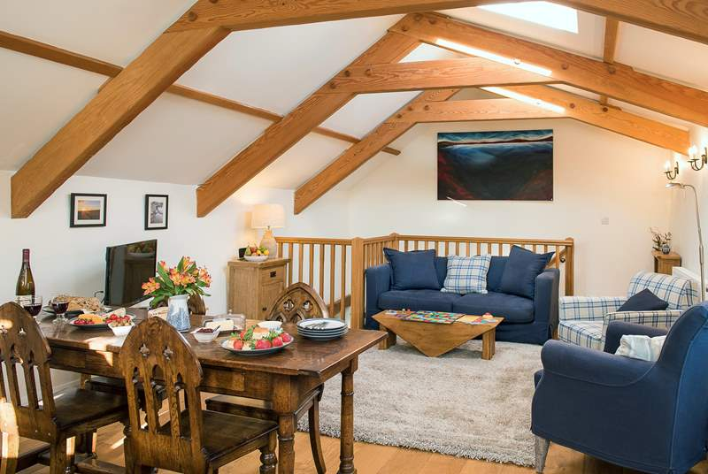 Plenty of room for everyone to chill out and relax after a day exploring the delights of Cornwall.