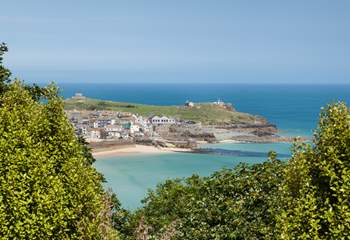 The view to The Island in St Ives from the apartments (not the view from Windjammer although it does have stunning sea views).