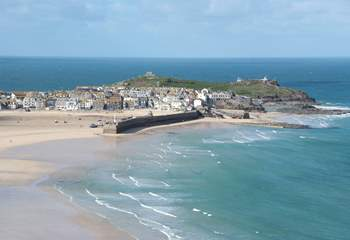 The view to the Island in St Ives.