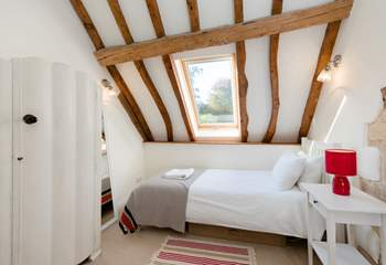 A large Velux window brings in plenty of light.