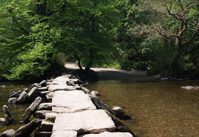 Just outside Dulverton you will find the iconic Tarr Steps.