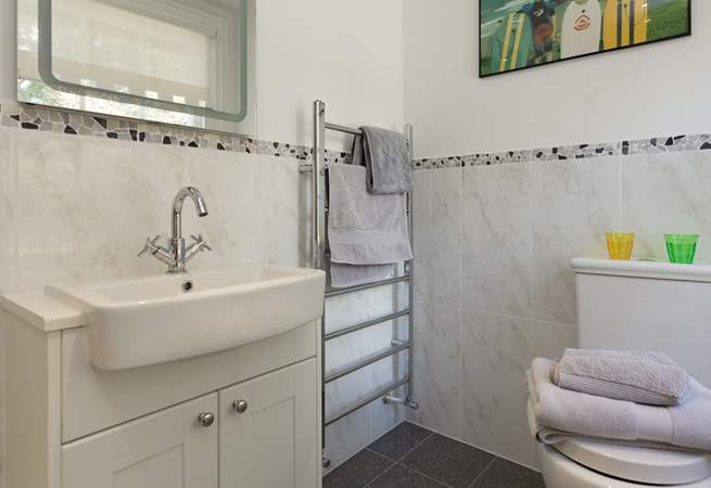 Both bathrooms have heated towel rails for the lovely fluffy towels that are provided during your stay.