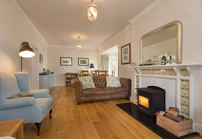 The ground floor has an open plan layout which makes this a really sociable place to stay.