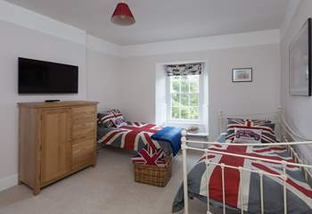 The third bedroom can be set up as twins or pushed together as a double if you wish. There is a television and even an Xbox for your children to enjoy.