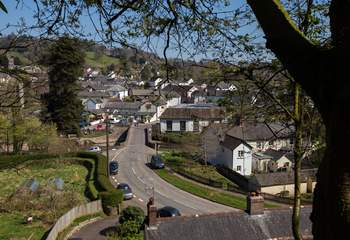 This is a view of Dulverton. The footpath from Andrew's House comes out just by the bridge.