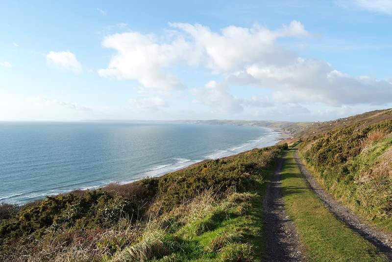 There are fabulous clifftop walks nearby.
