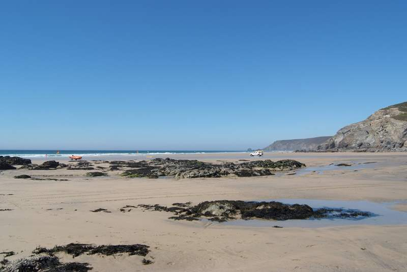 Porthtowan on the north coast, a great surfing beach.