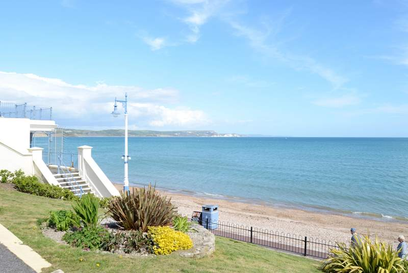 The Jurassic Coast forms part of Weymouth bay.