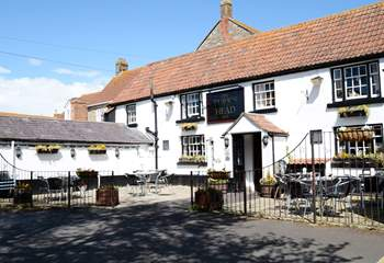The Turks Head is a five minute stroll from September Cottage.
