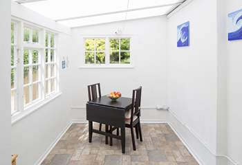 The garden-room provides a really useful extra area with washing machine and tumble-dryer.