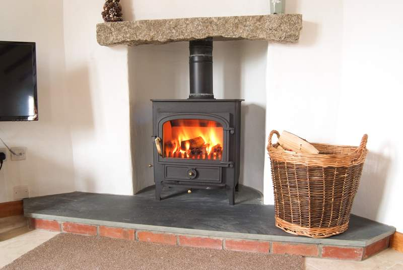 The cosy wood-burner will keep you toasty on those cooler days and nights.