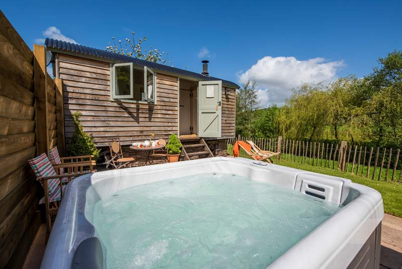 The gorgeous Cherry Blossom complete with its very own hot tub!