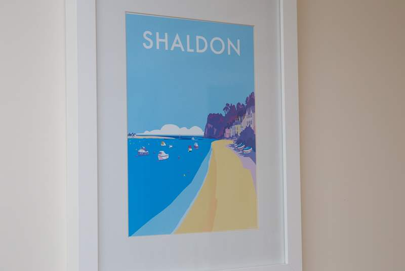 A reproduction of a 1920's poster of Shaldon.