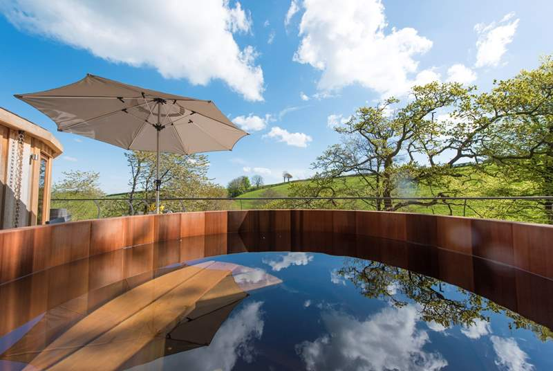The fabulous wood-fired hot tub.