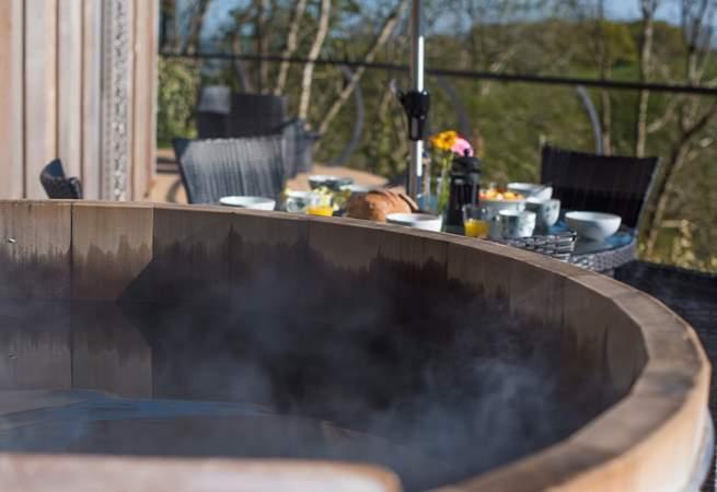 Enjoy a long soak in the hot tub.