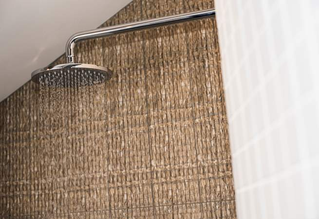 The modern shower-room adds to the luxury of this fabulous retreat.