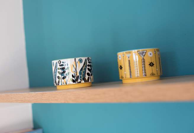 The lovely colour scheme is carried throughout the yurt.