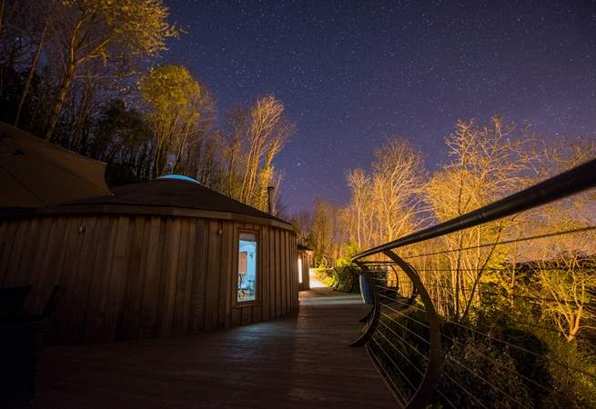 Spend your evenings in the hot tub, staring at the starry sky.