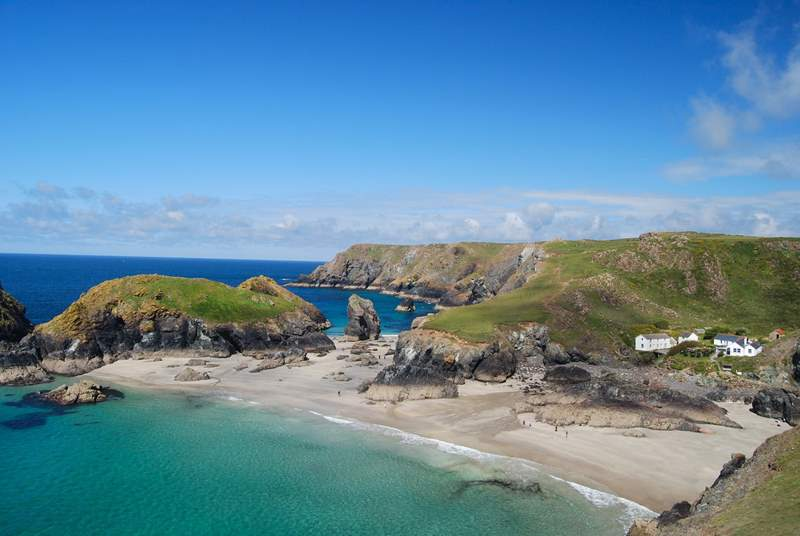 The gorgeous Kynance Cove.