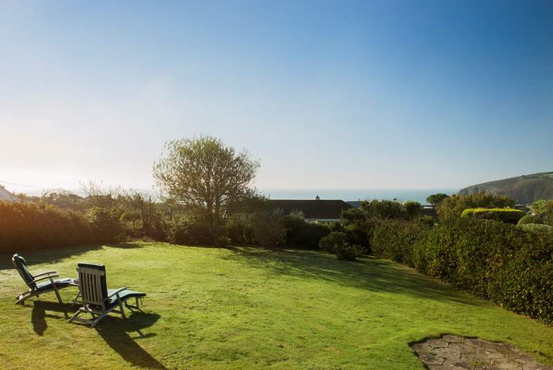 The amazing views can be enjoyed from the spacious garden, room to relax, room to play.