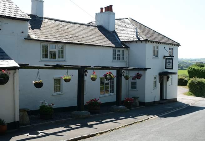 The Spyway Inn is a short walk from West Hembury Farm.